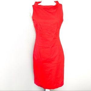 Anne Klein Cowl Neck Red Dress